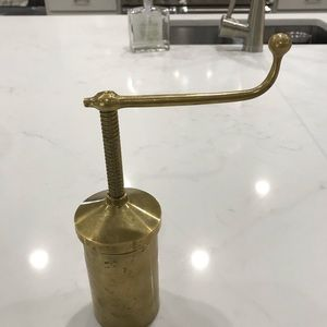 Vintage Brass Cookie Press